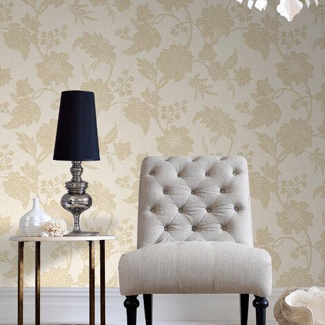 Boutique Mystique Classic Metallic Floral Pearl Wallpaper (Was £25)