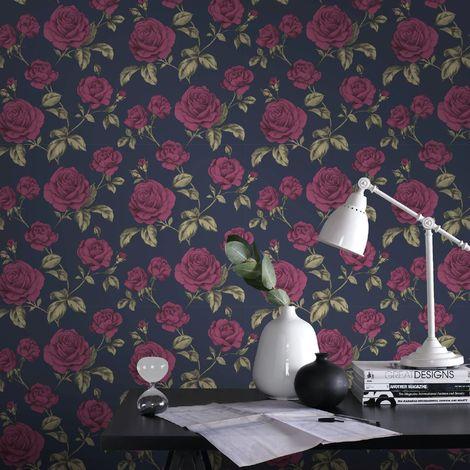 Boutique Navy Countess Wallpaper
