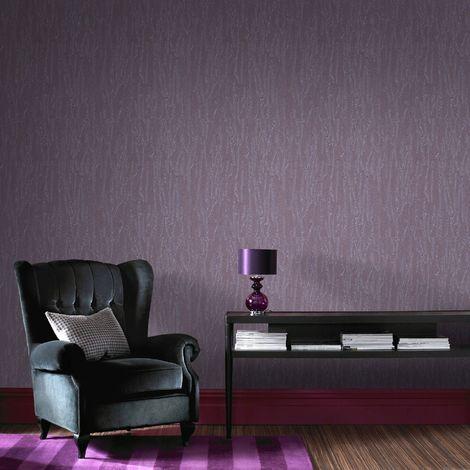 Boutique Purple Crushed Silk Wallpaper
