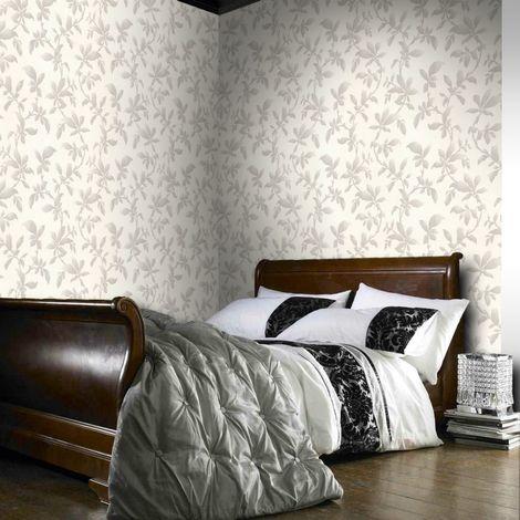 Boutique Sarra White / Silver Wallpaper
