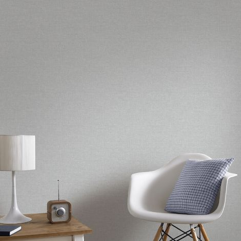 Boutique Shimmer Silver Textured Plain Luxury Wallpaper