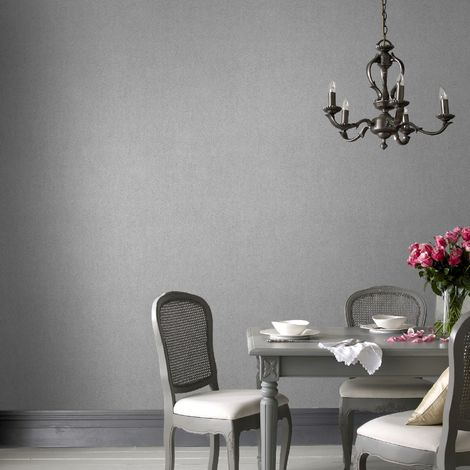 Boutique Silver Textured Plain Sequin Luxury Wallpaper