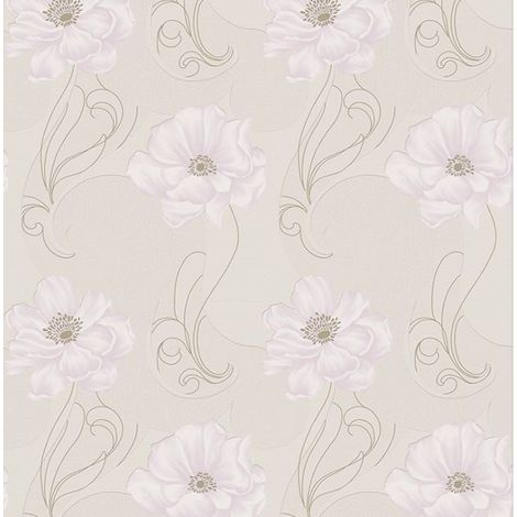 Boutique Sofia Embossed Metallic Floral Beige Wallpaper (Was £24)