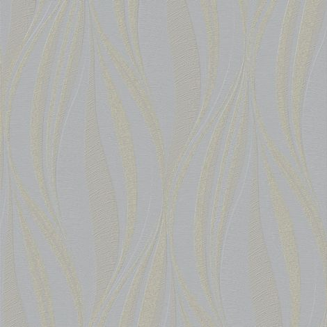 Boutique Tango Embossed Geometric Mist/Gold Wallpaper (Was £24)