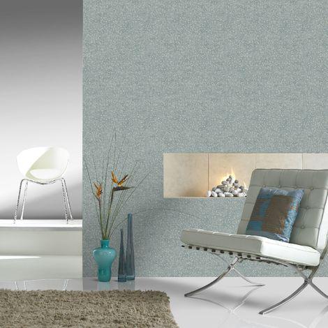 Boutique Teal / Pale Gold Confetti Wallpaper