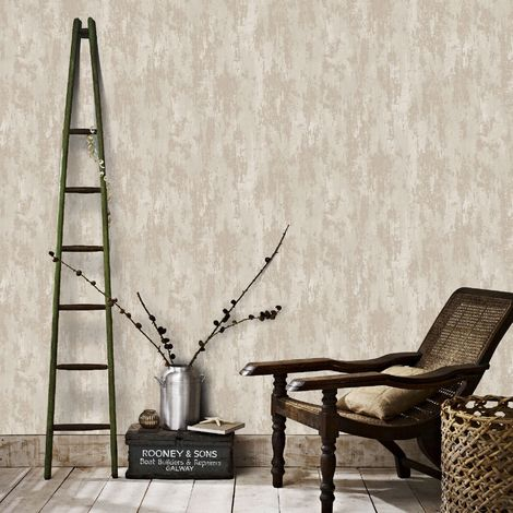 Boutique Turqouise Industrail Texture Wallpaper