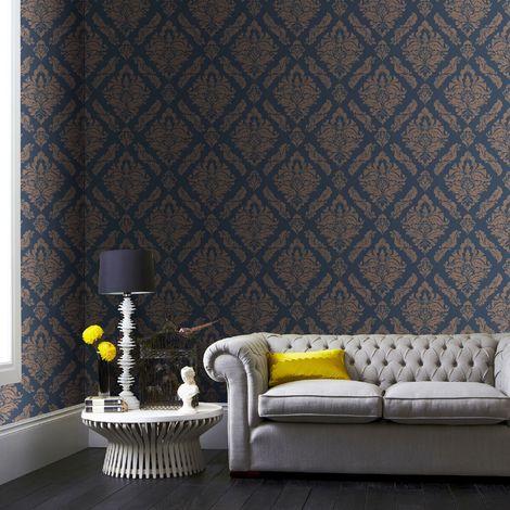 Boutique Turquoise Damaris Wallpaper