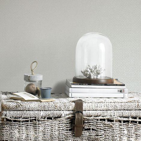 Boutique White Lux Weave Wallpaper