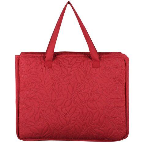 Boutis 240x260 avec 2 taies et sac Cassandre rouge - Rouge