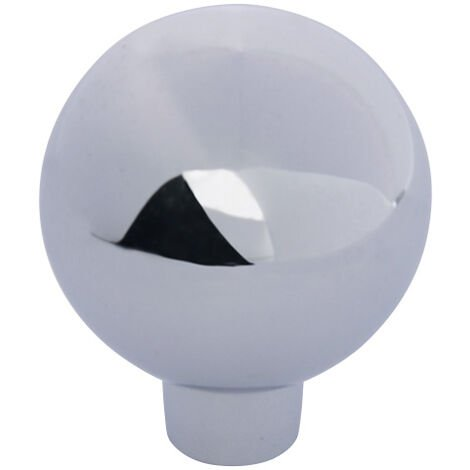 "main image of ""Bouton boule zamac - Hauteur : 33 mm - Décor : Chromé - Diamètre : 28 mm - Matériau : Zamac - FOSUN - Matériau : Zamac"""