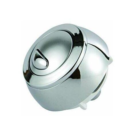 Bouton chromé pour mécanisme WC SIAMP Optima 50