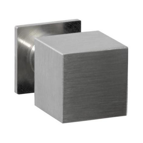 Carré Chrome Poli inox boutons de meuble cuisine poignées de porte porte tiroir