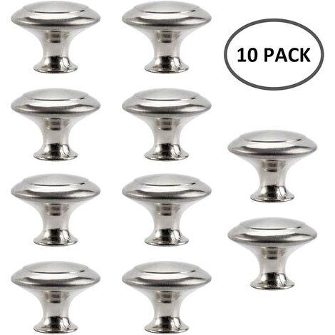 Bouton de Meuble Cuisine Poignées Cabinet Acier Inox Portes Coupe Décoration Porte Cabinet Placard Tiroir Armoire(10PCS) - Transparent