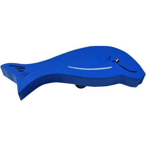 "main image of ""Bouton de meuble dauphin bleu"""