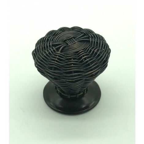 bouton de meuble tressé couleur cuivre