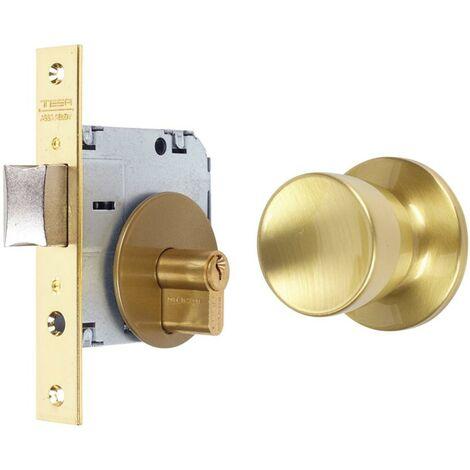 Bouton de porte d'entrée 50Mm laiton mat 352050Lm Tesa