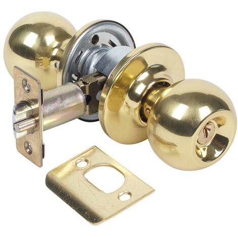 Bouton de porte d'entrée Boule 60Mm Laiton poli 3902U0Lp Tesa