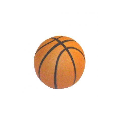 Bouton de porte et de tiroir de meuble ballon de basketball en porcelaine orange Ø 31mm, BASKET