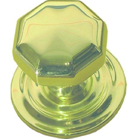 Bouton de porte octogonal en laiton 10011 Micel