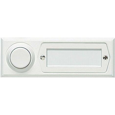Bouton de sonnette simple Grothe 51013 blanc 12 V/1,5 A