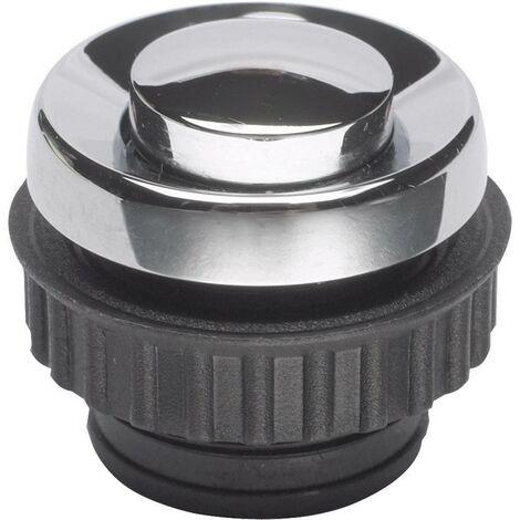 Bouton de sonnette simple Grothe 62054 chrome 24 V/1,5 A