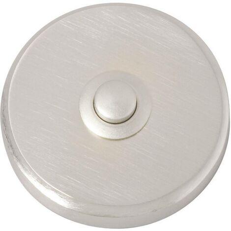Bouton de sonnette simple Heidemann 70083 nickelé 24 V/1 A