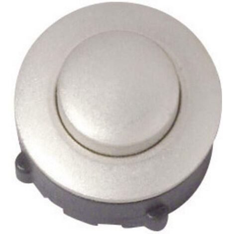 Bouton de sonnette simple Heidemann 70094 nickelé 24 V/1 A