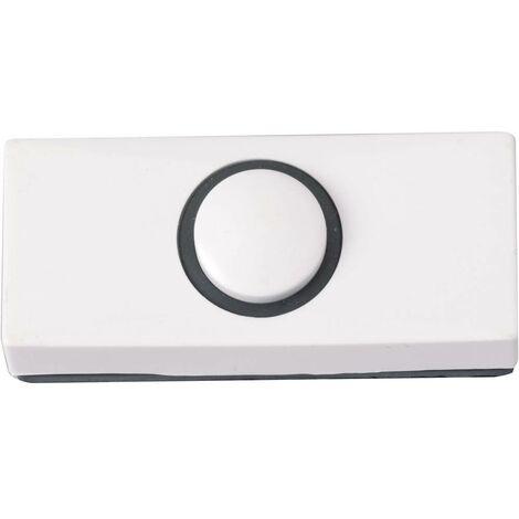 Bouton de sonnette simple Heidemann 70180 blanc 24 V/1 A