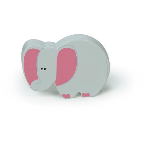 Bouton de style enfant, en plastique (ABS) et en forme d'éléphant.