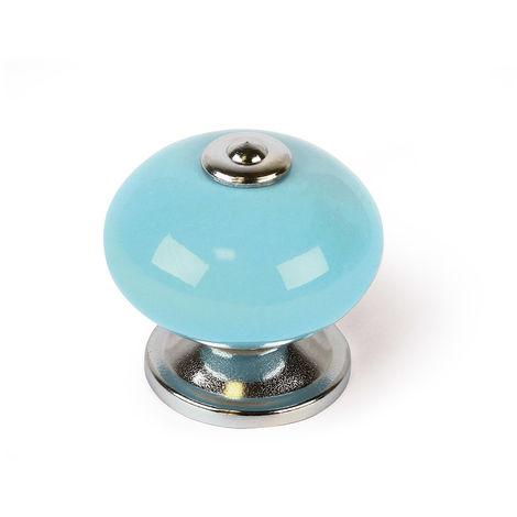 Bouton en porcelaine bleu clair, dimensions: 40x40x38mm Ø: 40mm - talla