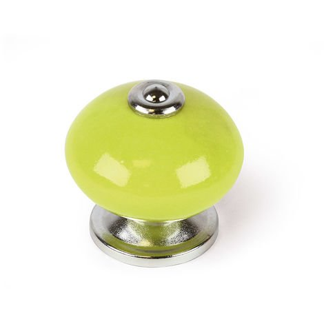 Bouton en porcelaine verte, dimensions: 40x40x38mm Ø: 40mm - talla