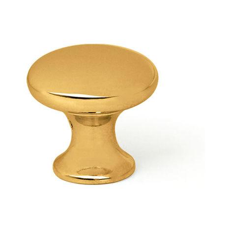 Bouton en zamak finition dorée, dimensions: 30x30x30mm et ø: 30mm