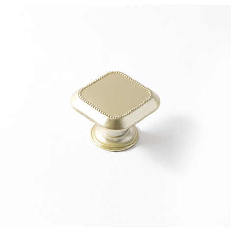 Bouton en Zamak finition dorée mat, dimensions: 30x30x22mm - talla