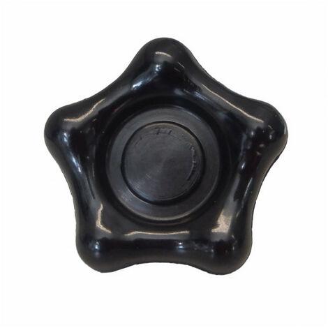 Bouton étoile avec insert taraudé - plusieurs modèles disponibles