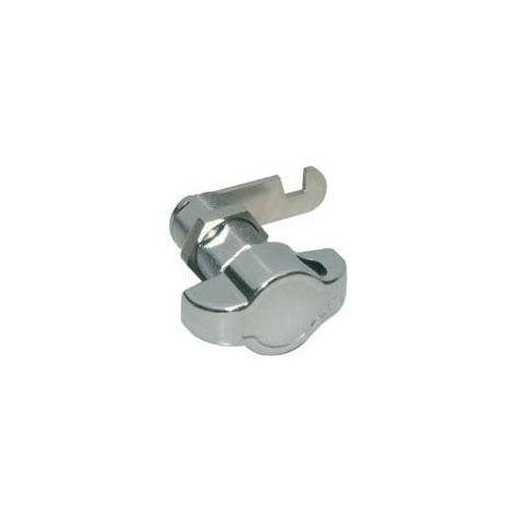 Bouton porte cadenas avec batteuse - Pour casier bois d\'épaisseur : 19 mm - Rotation : 90° - Hauteur : 40 mm - Décor : Nickelé - OJMAR - Décor : Nickelé