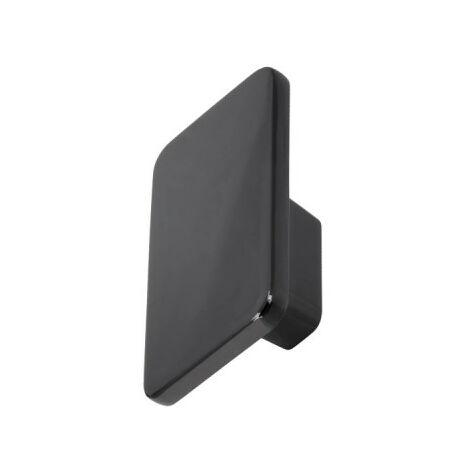 Bouton pour meuble moderne SIRO Zamak - 140 x 86 mm - Chrome noir brillant