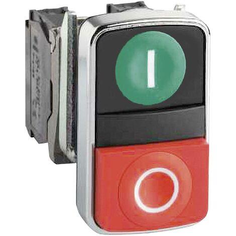 Bouton-poussoir à double touche Schneider Electric Harmony ZB4BA7341 ZB4BA7341 actionneur plat vert, rouge 1 pc(s)