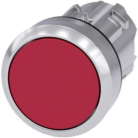 Bouton poussoir à pression Siemens SIRIUS ACT 3SU1050-0AB20-0AA0 3SU1050-0AB20-0AA0 collerette métal, finition brillant