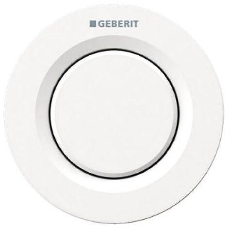 Bouton-poussoir de déclenchement pneumatique à distance type 01 pour rinçage 1 touche apparent Blanc Alpin