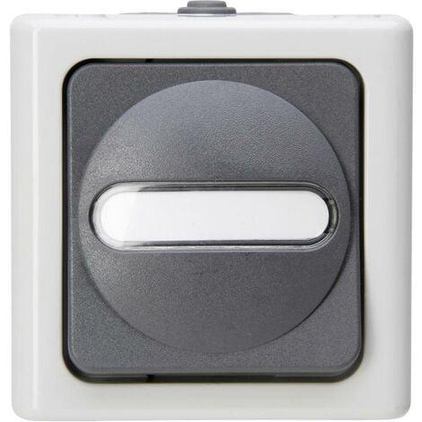 Bouton-poussoir Kopp 561456001 BlueElectric gris