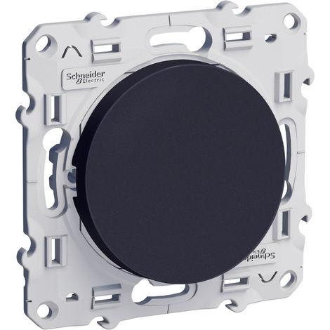 "main image of ""Bouton-poussoir Odace - 10A - Connexion rapide - Anthracite"""