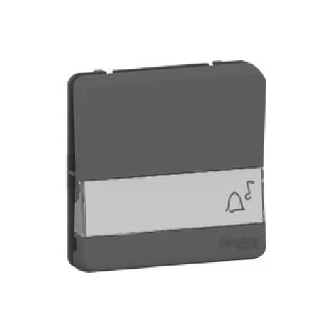 Bouton poussoir porte-étiquette gris Schneider Electric Mureva Styl