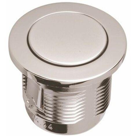 Bouton poussoir pour soupape Grohe - Chromé Ø40mm