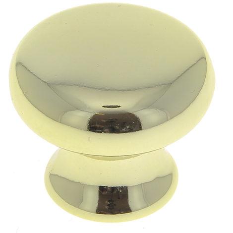 Bouton rond diamètre 32mm plastique doré