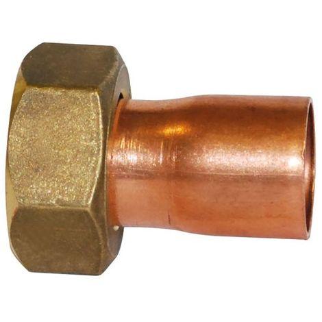 BOUTTE - Raccord 2 pièces - droit à emboiture - 15x21 - D: 14 mm