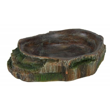 Bowl for water and food for reptiles. 10 x 2.5 x 7.5 cm.
