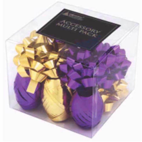 """main image of """"Bows & Ribbons Wrapping Pack Gold & Purple"""""""