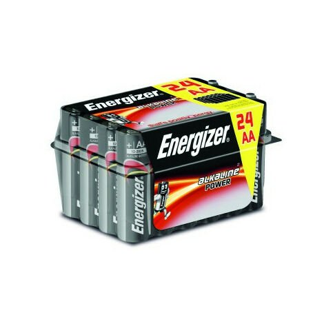 """main image of """"Box 24 batterie alcaline tipo lr6 (aa) energizer"""""""