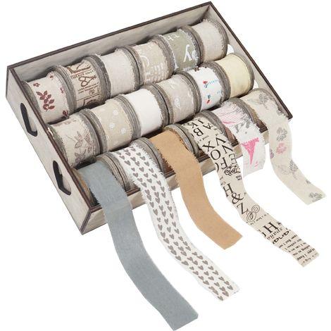 Box de décoration, bandes de décoration, boîte à ficelles, 18 galets
