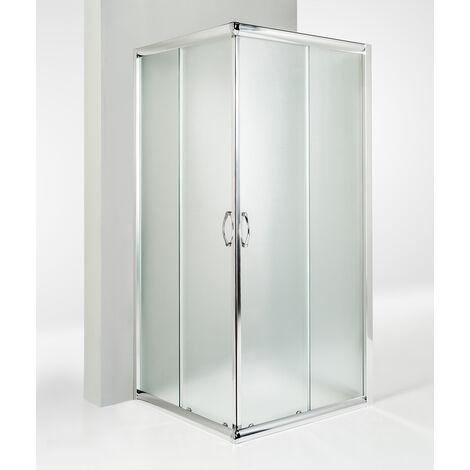Box doccia 3 lati porta scorrevole opaco
